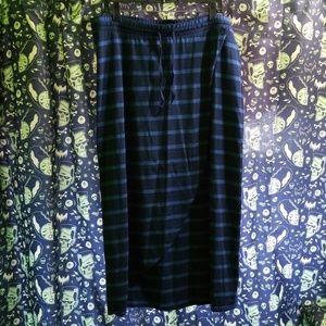 Soft Cotton Blue Stripes Maxi Skirt